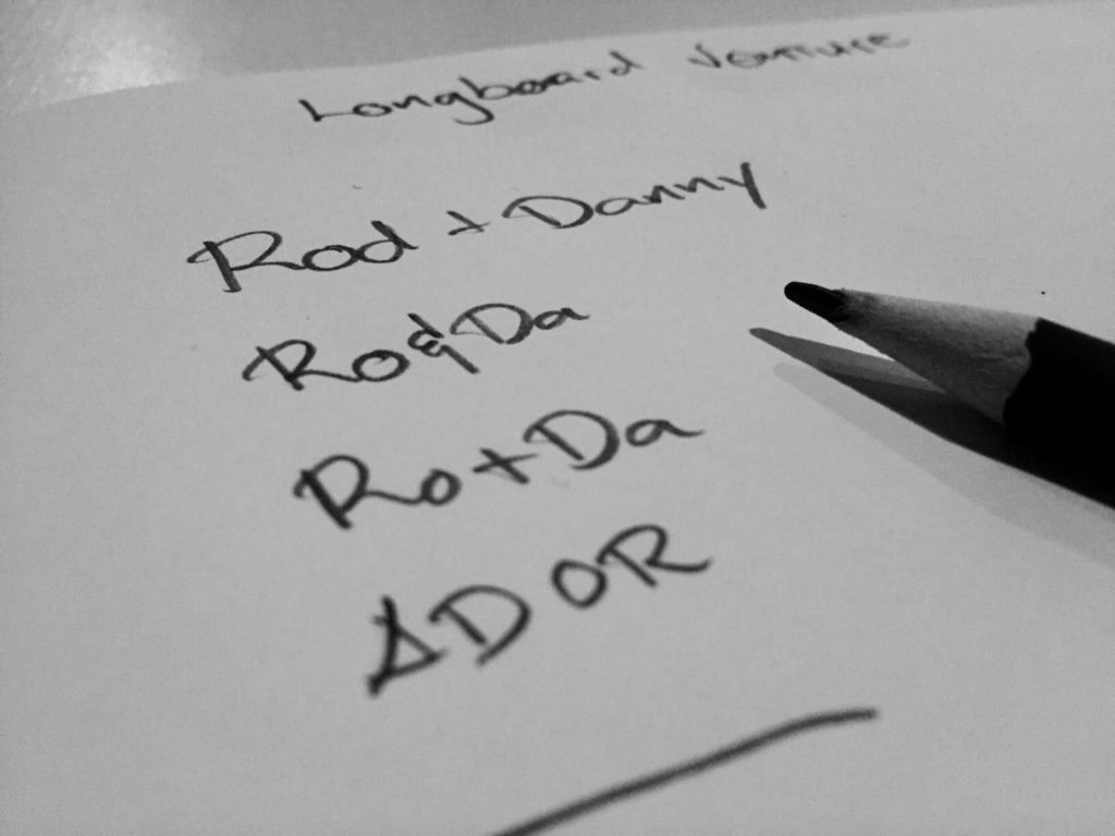 Rod + Danny Wordmark Study