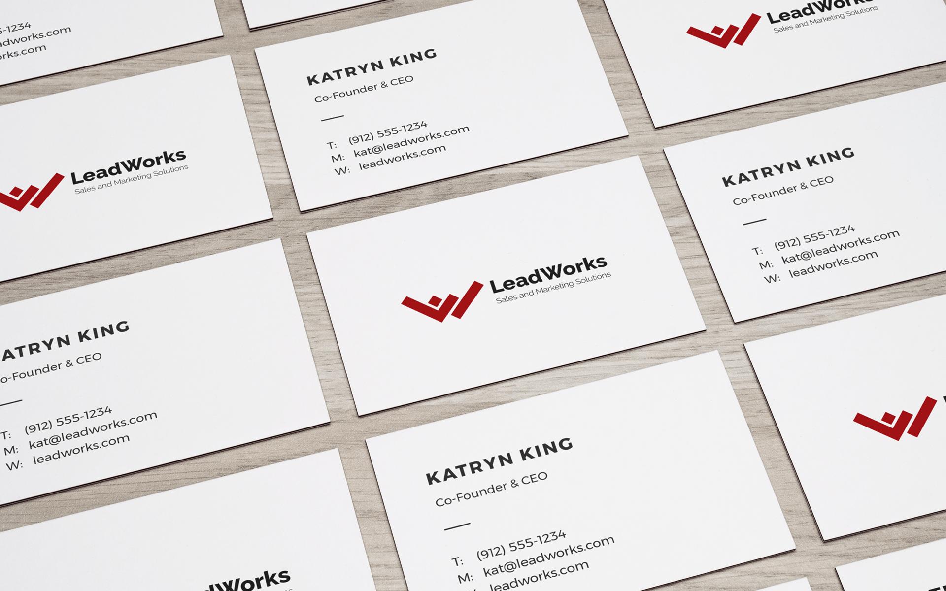 LeadWorks Business Card Mockup Presentation